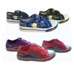 Wholesale Closeout Stock Kids Canvas Shoes For Girls And Boys