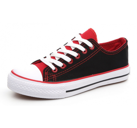Wholesale Non Branded Low Cut Rubber and Canvas Shoes For Adult