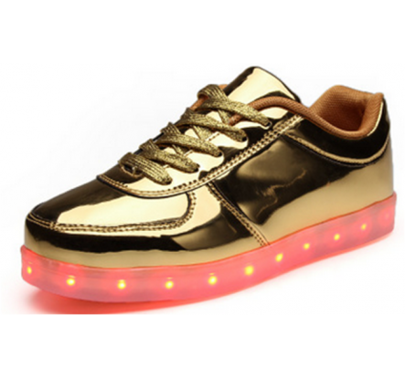 Hot Sale Overstock 25-45# Leisure Led Flat Sports Shoes With Light