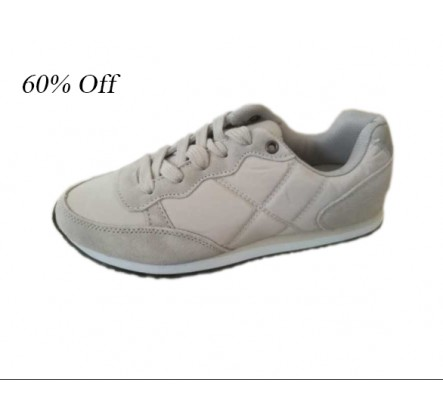 Closeout Grey Suede and Nylon Women Sports Shoes Stocklots