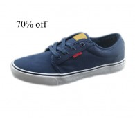LEV*S Branded Navy Canva and Rubber Overstock Mens Shoes In Stock