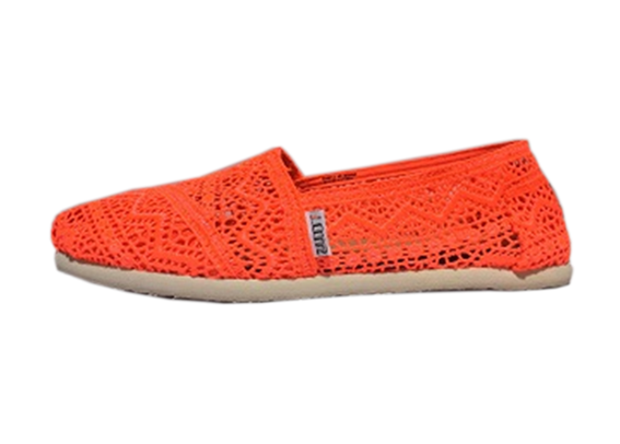 Closeout Burlap and Textile Classic Canvas Casual Slip-on Shoes
