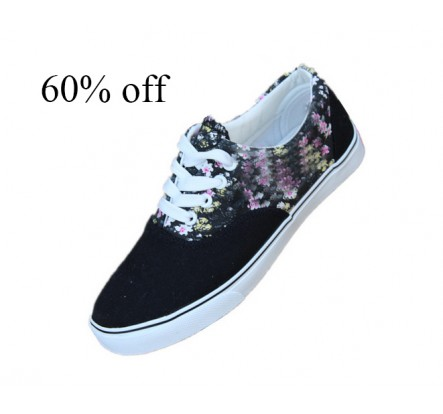 Closeout Navy Red Green Wine Grey Women Canvas and Rubber Sneakers