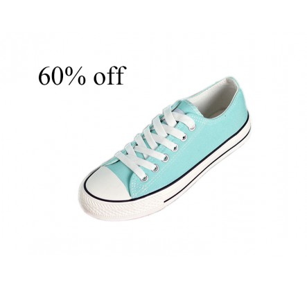 Overstock Navy Orange Sky Blue Women Canvas and Rubber Sneakers