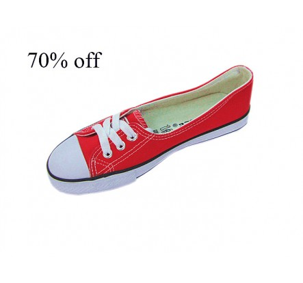 Navy White Red Canvas and Rubber Wholesale Shoes In Stock