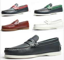 Closeout Mens Genuine Leather Branded Boat Casual Shoes