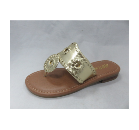 Overstock West Hamptons Girls Latest Fashion Gold Slippers