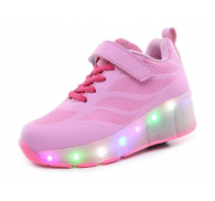2017 Closeout Kids Flying Heelies Skate Led Shoes With Retractable Wheels