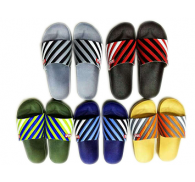 1Dollar 5Colors Wholesale PU Upper Mens Slipper Clearance