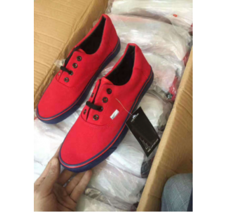 Overstock Mens Red and Blue Brand Canvas Shoes At Lowest Price