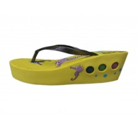Yellow Black Children LED Slippers Flip Flops Excess Closeout