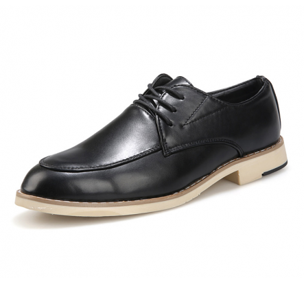Closeout Black Brown Business PU Leather Shoe Excess Stock For Man