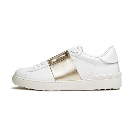 Brand Name Adult White Black Leather Sneakers Liquidation Closeouts