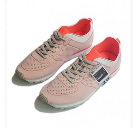 Stock Liquidation Light Weight Jogging Waterproof Lady Sports Shoes