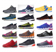 Chinese  Factory Surplus Stock Lots Sport Footwear  Styles For Adult and Child