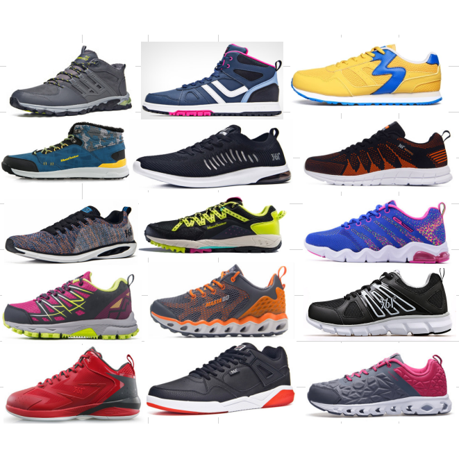 98f769346f Chinese Factory Surplus Stock Lots Sport Footwear Styles For Adult ...
