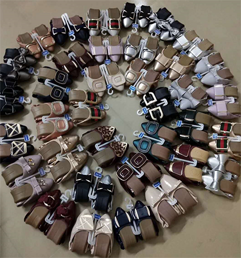 Stock Wholesale PU Shoe Cheap Ladies