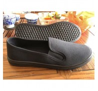 Black Canvas Shoes Stock For Man And Woman Cheap Wholesale