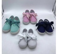 Plain Color Girls Canvas Shoes Surplus Wholesale