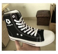 Hi Top Black Canva Shoe Export Excess