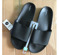 Black Slipper Shoe Stock Wholesale For Man
