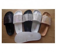 Ladies Fashion Glitter Slippers Stock Clearance For Summer Market