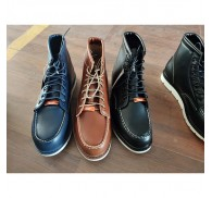 PU Boot Shoe Stock For Man Clearance Black Brown Navy