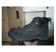 Man PU Leather Boot Shoe Stock Closeout Black Wheat Color