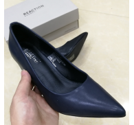 Brand Chunky Heels Women Shoes PU Shoe Export Surplus