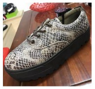Surplus Stock Wholesale Female Flat Genuine Leather Shoes
