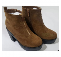 Women's Suede Heel Boots Small Quantity In Stock Supplied