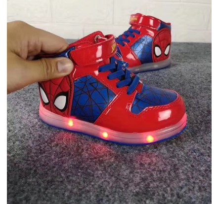 Branded Carton Led Flashing Shoes Light Up Shoe Stock For Children Kid