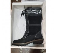 Wholesale Liquidation Boots Female Black PU Material