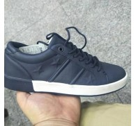 Man Casual Fashion Skate Shoes Navy Board-shoe Export Stock