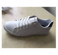 Ladies White Color PU Shoe Stock