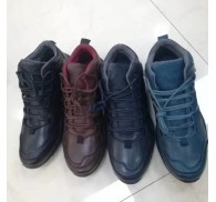 Italy Mid Boot Shoes Mens Footwear Stock Wholesaler