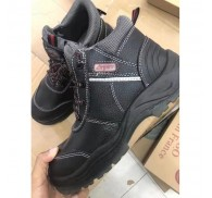 Top Layer Leather Man Black Boots Shoe Chines Stock Supplier