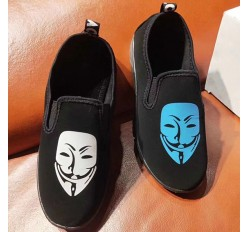 Cheap Black Branded Child Shoes Loafer Shoe Wholesale Stock