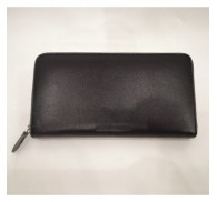 Brand Name Black Wallet With Zipper Left Overstock
