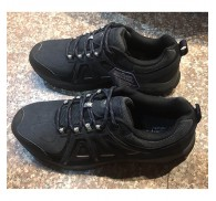 Mens Stock Shoes All Black Colour Clearance Outdoor Footwear
