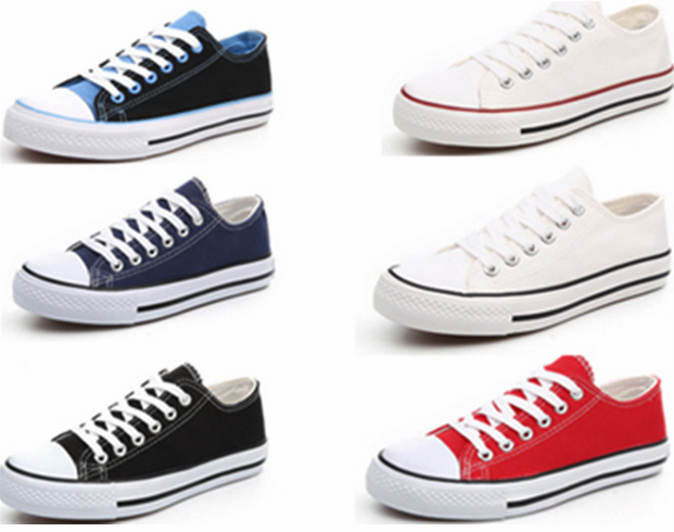 non brand low cut canvas shoes