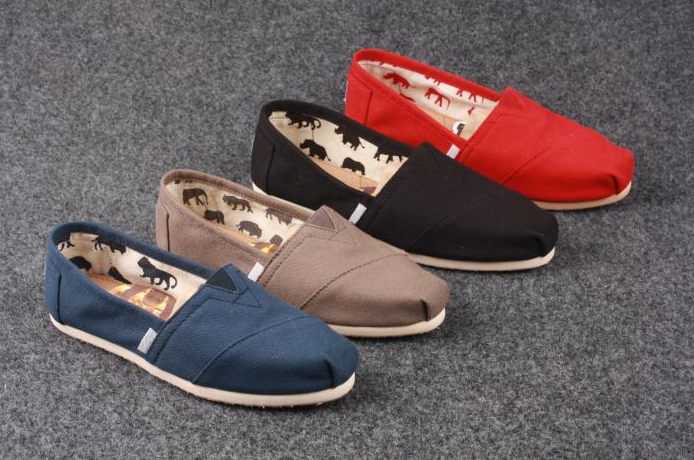 brand slip on canvas shoes