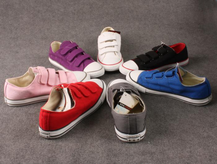 colorful canvas shoes in stock