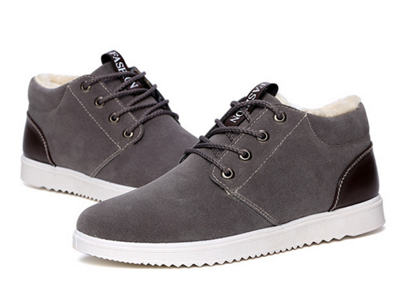 No Brand Grey Blue Brown Winter Ankle Boots For Men