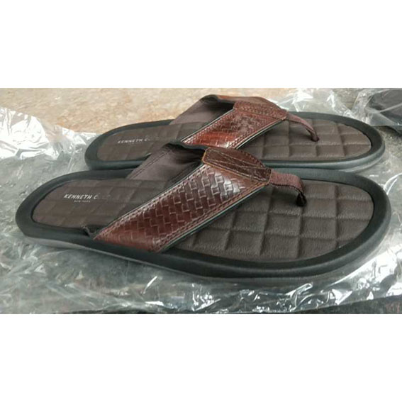 male leather slippers