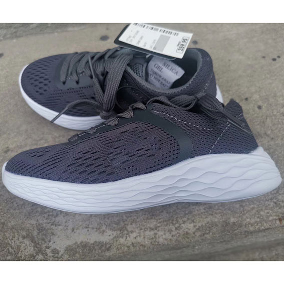 child stock sport shoe grey color
